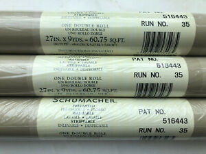 Schumacher Double Roll Striped Wallpaper - In Plastic- 3 Double Rolls
