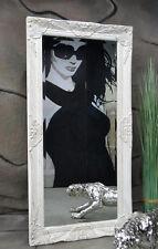 Livitat® Wandspiegel Spiegel barock antik  Weiß 100 x 50 cm