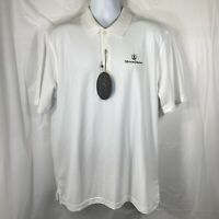 Greg Norman Mens Large Play Dry Hotel Del Coronado Golf Polo Short Sleeve Shirt