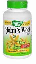 Natures way St. Johns Wort Herb 180 veggie caps.. Fast Shipping
