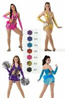 Shake It Up Dance Tap Costume Unitard with Boa New Clearance Choice Color & Size