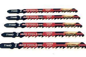 5 x T144D Jigsaw Blades for Metal to fit Bosch, DeWalt, Makita
