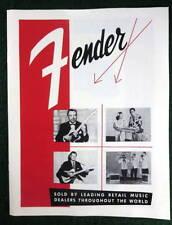 FENDER MUSICAL INSTRUMENTS 1956 PRODUCT BROCHURE CATALOG DOWNBEAT REPRINT NEW #1