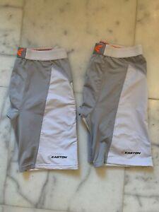 Easton Men's Baseball Sliding Shorts Size Large - 2 Pair