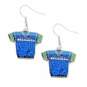 NFL Seattle Seahawks Sports Team Girls Fashion Wear Glitter Jerseys Sparkle D...