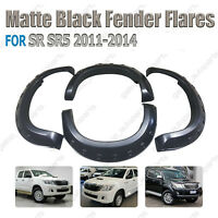 Matte Black Fender Flares Wheel Arch Fit For Toyota Hilux 2011 2012 2013 2014
