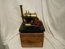 STUNNING LARGE BOWMAN E101 SINGLE CYLINDER STEAM ENGINE,SPIRIT FIRED & WOOD CASE