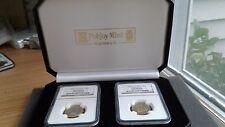 Pobjoy Mint 1995 Bi-Metallic Au/Pt 1/4 Noble and 1/4 Angel NGC Gem Proof Set