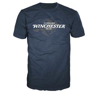 New Winchester Rifle Men/'s Long Sleeve Black T-Shirt Size S-3XL