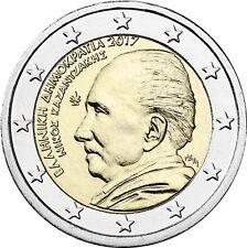 Griechenland 2 Euro Münze Nikos Kazantzakis 2017 Gedenkmünze unzirkuliert