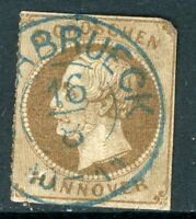 Germany 1864 Hannover 3gr Brown  SG # 39 VFU I18