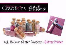 Beauty Creations 18 Colors Glitter Powder & 1 PC Glitter Primer *NEW*
