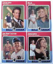 BULL DURHAM Movie BASEBALL CARD Set of 4 Mint KEVIN COSTNER Crash Davis 1988