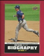 Joe Mauer 2010 Upper Deck Season Biography Card # SB-54 Minnesota Twins MLB