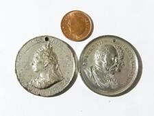 2 x Victoria Diamond Jubilee & Edward VII CORONATION métal blanc médailles #H37