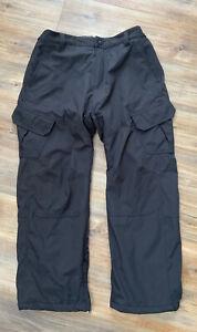 MEN'S GERRY BLACK SKI PANTS SIZE XXL 2XL Snow Fleece Lined Cargo