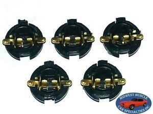 """Chrysler Dash 5/8"""" Instrument Gauge Gage Cluster Idiot Light Bulb Socket 5pcs A"""