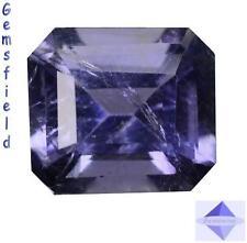 SI !!! 1.17ct !!!  IOLITE d' INDE - OCTOGONALE lumineux bleu mauvé - poli AAA++