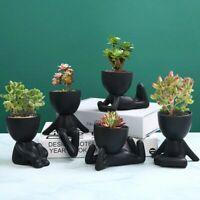 Nordic Ceramic Modern People Art Flower Pot Creative Planter Home Decor Ornament