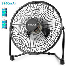 OPOLAR Portable Desk Table Fan, Rechargeable Battery Cooling Fan, 5200 mAh, Quie