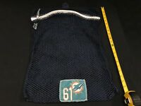 ALL NUMBERS MIAMI DOLPHINS GAME USED NAVY MESH LAUNDRY BAG PICK YOUR # LOOK