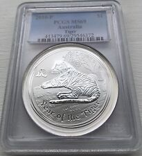 2010 P Australia YEAR OF THE Tiger Lunar PCGS MS 69 Silver 1 oz coin