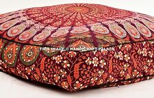 """Peacock Mandala Cushion Cotton Bed Dog Bed Extra Large Removable Case Indian 35"""""""