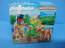 Playmobil 5278 Indian lady deer animal zoo Egg brand NEW box Geobra 114