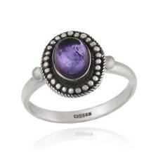 Ovale Echtschmuck-Ringe mit Amethyst für Damen
