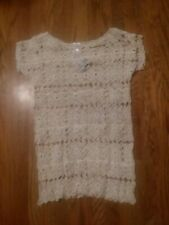 INDIA BOUTIQUE IVORY CREME LACE COVERUP DRESS ONE SIZE NEW