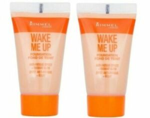 new 2 x Rimmel wake me up foundations choose your shade 2 x 15ml tubes total 30m