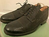 Men's Clarks Brown Leather Cap Toe causal shoes Size 11.5 style # 66129