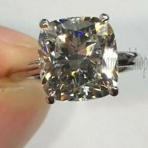 Cushion Cut 2.8CT Colorless Moissanite Engagement Party Ring 925 Sterling Silver