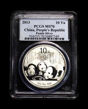 2013 China Panda Silver Coin 10 Yuan  PCGS MS 70