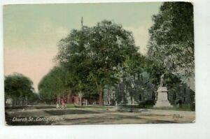 NY Cortland New York antique 1914 Post Card - Church Street view