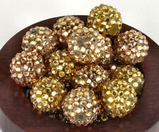 Rhinestone Pave Shamballa Beads Acrylic Disco Ball 16mm x 18mm - 20 pieces