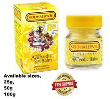 SIDDHALEPA Ayurveda Ayurvedic Herbal Balm Pain Cold Flu Headaches Relief