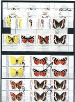 Bund 2500 - 2503 Eckrand o. VB Viererblock gestempelt Vollstempel Schmetterlinge
