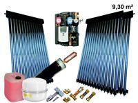 Solaranlage Komplettpaket Röhrenkollektor Warmwasser Power HeatPipe 9,3 m² Bafa