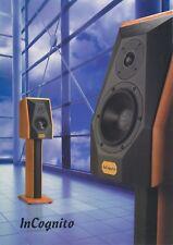 Incognito Original Speaker Spec Sheet