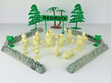 1960's MARX Bedrock Playset Pieces FLINTSTONES 13 FIGURES Tree MAILBOX Dino Puss