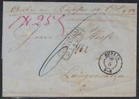 BLN 38111) PAKETBEGLEITBRIEF Berlin 1860 nach LANGENSALZA