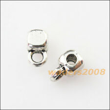 50 New Tiny Square Connectors Tibetan Silver Bail Bead Chrams 3.5x7mm