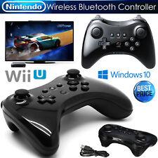 Black Wireless Controller For Nintendo Wii U Pro Gamepad Joypad Hand Remote UK