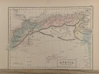 1854 NORTH AFRICA HAND COLOURED ANTIQUE MAP 165 YEARS OLD BY SIDNEY HALL