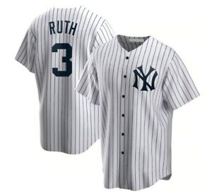Babe Ruth New York Yankees Player Jersey White Size XS-5XL