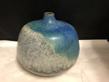 MID CENTURY MODERN BLUE VASE HAND MADE IN GERMANY