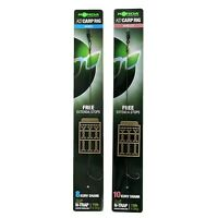 Korda KD Rig Ready Tied Carp Fishing Rigs  - Barbed OR Barbless - All Sizes