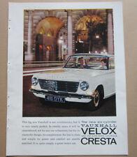 Vauxhall Velox Cresta Coventry Climax Single Page Magazine Advert c.1960's
