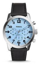 Fossil Original FS5162 Men's Pilot 54 Black Leather Watch 44mm CHRONO